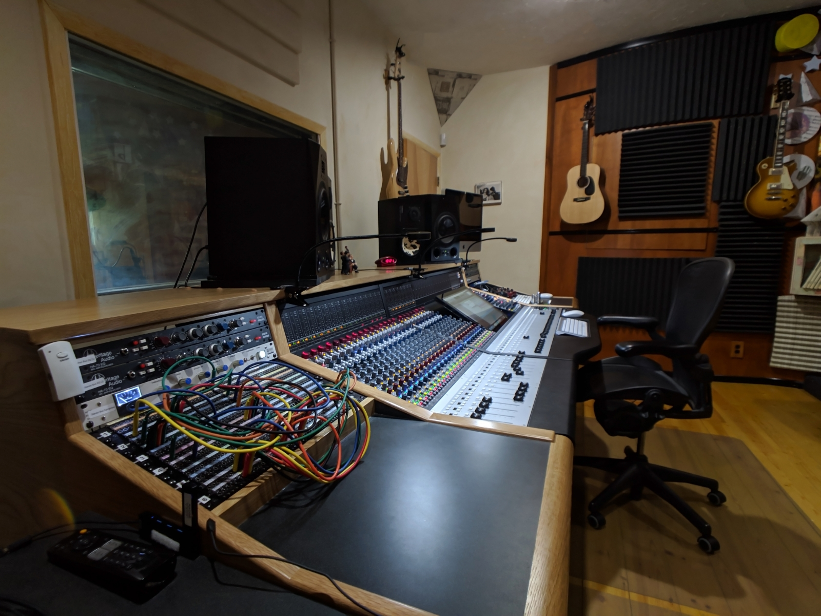 Control Room, featuring the Neve Genesys Black analog console.
