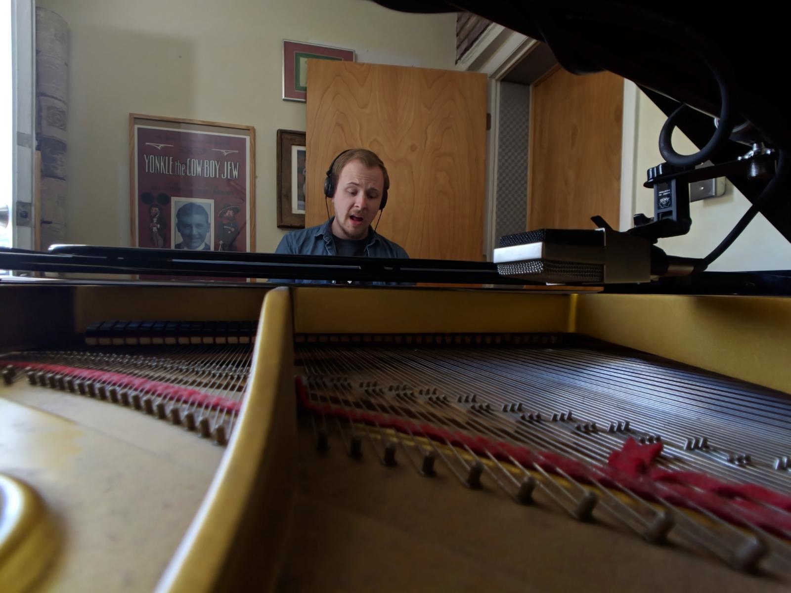 Real Yamaha grand piano, with disklavier midi read/write.