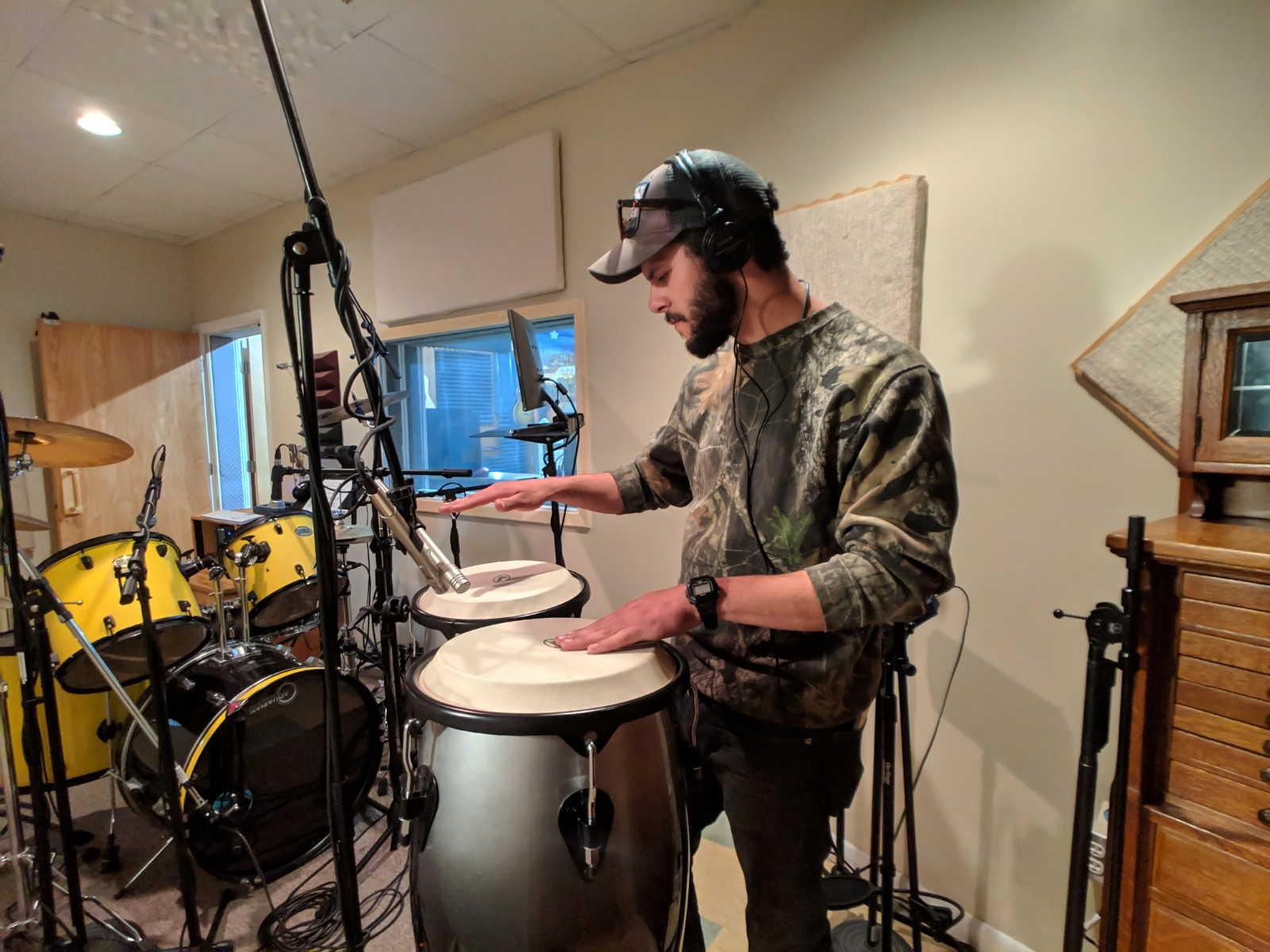 Real drums, real percussion